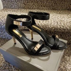 Sexy Black Stiletto Sandal